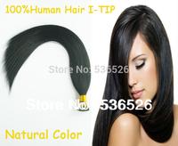 "Brazilian Straight virgin hair 24"" Human Hair 100g  Natural color Brazilian prebonded stick I tip hair extensions"