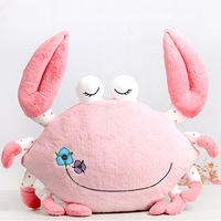 Hpp&Lgg Brand cute crab pillow,Creative plush toy crab cushion,big crab stuffed animals pillow,hot sale gift toys free shipping