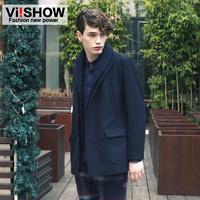 viishow2013 winter new European and American style warm tide male coat male coat coat and long coat