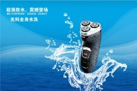 High Quality beard cutting machine Washable Waterproof 3Heads Rotary Electric razor Shaver Beard Hair for menRechargeable Black