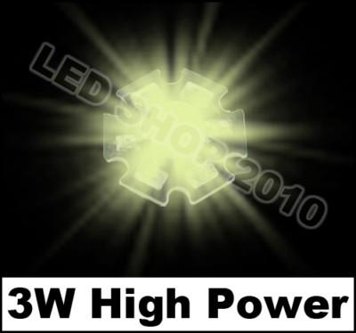100pcs 3W Warm white HIGH POWER LED Star 170LM 3200K 3watt lamp light(China (Mainland))