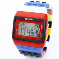 Relojes Student Waterproof Multifunctional Electronic Watches Sports Stylish Free shipping Girls boys Sports Watches