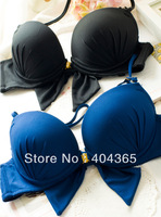 bra bras push up bras for women lingerie fashion sexy lace  (VS 004)  front button    halter-neck lacing  glossy sexy