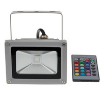 10W RGB Cool White Warm White IR Remote LED Floodlight Flood Light Bulb Outdoor Lighting IP65 Waterproof  Square Garden Wall