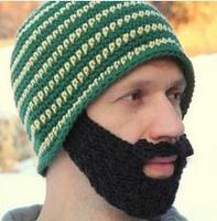 new 2014 Bearded men and women warm winter wool knit cap mask + ear  (freeshipping)
