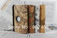 30PCS/LOT Only For Apple iPad Mini New Arrival Luxury Fashion PU stand Leather 360 Rotating  Map Tablet Case cover