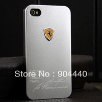 For Stylish Appearance Luxurious Phone Shell Ultra-Thin Design Aluminum Metal Embossed Ferrari Logo Free Shipping (X-38#)