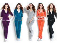 2015 Hitz female sports suit New Style Spring Korean Women Leisure Sports Hoodie Set two-piece leisure suit sportswear AR465 Q9