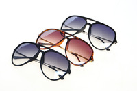 Free Shipping 2013 New Vintage Black Mens Sunglasses Oversize Round Metal Arm Leopard Sunglasses Women  #5009