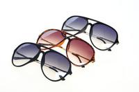 Free Shipping 2014 New Vintage Black Sunglasses Women Oversize Round Metal Arm Leopard  Gafas Women Oculos Glasses