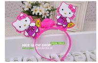 Free shipping Children's Christmas cartoon characters hairpin   luminous toys,toys,glow in the dark party supplies