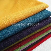 L082 sofa fabric sofa hemp cloth thickening pure color hemp customize sofa cushion coarse linen