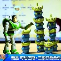 Genuine Toy Story ALLEN Green Aliens Squeeze Toy Alien small ornaments 11 pcs/set  1*8cm +10*2cm