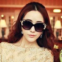 2014 Spring New Women Cat Eye Sunglasses Luxury Queen Baroque Oculos De Sol WomenStar Rose Sun Glasses Summer Glasses