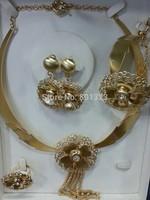 New arrival Costume jewelry set ,18K gold plated big jewelry set