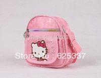 Girls Lovely Bag Kitty School Bags Mini Oxford Canvas Messenger Bag Gift For Children Kids Wholesale Free Shipping