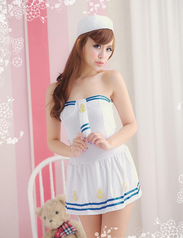 Grátis frete venda quente trajes sexy marinha mulheres Sailor cosplay vestido de festa Costumes(China (Mainland))