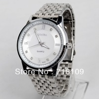 High Quality Women Men Fashion Alloy Adjustable Belt Wrist Watch with Crystal Rhinestone