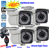 4X 700TVL Sony EFFIO CCD Outdoor bullet 66 Infrared dark vision Security Camera