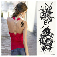 Free shipping! New instant waterproof temporary tattoo stickers dragon paint printed, long last 5-7days, 3pcs/pack YM-L070