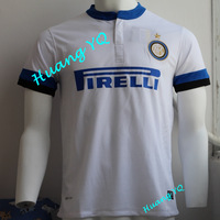 2013 2014Inter milan WHITE soccer shirts Top Thai Quality  football jerseys  Inter milan Away Player version  Free Shipping