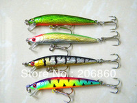 "HOT! 4pcs Fishing Minnow Lures for fishing tackle 7.5CM 5.8G 6# HOOKS 2.95"" plastic pesca fishing artificial Lure swimbait"