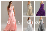 New Formal Long Chiffion Dresses Evening Gown Party Prom Dress Size 6 8 10 12 14 16 On Stock
