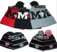 1 PC  2014 NEW MN Diamond autumn winter sport casual sports beanie beanies for men woman hats snapback hat baseball cap caps