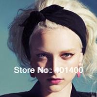 Wholesale12pcs/lot Ladies Ears Bow Strechy Knitted Headband Fashion Women Sports Yoga Headwrap Hairband Hairware