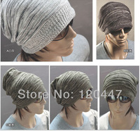 Witer 2014 fashion brand good quality  male knitted plus size marle thickening warm hat for Xmas cheap wholesale free