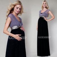2014 Spring New Fashion European American Maternity Banquet Toast Evenning Dress Long Pregnant Women Fat Sister Wear Plus Size