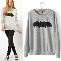 Winter Autumn 2013 new Arrival women's bat Printed Sweatshirt sports for women coat outwear hoodies FREE SHIPPING