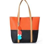 2013 new handbag spell color female bag women leather handbags louis handbag