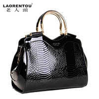 LAORENTOU new 2013 crocodile female vintage bags women leather handbags famous brands evening bags designers ladies totes