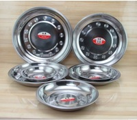 12cm 5pcs/lot Thicken Stainless Steel Round Dish Plates,Fast Food Tray,Canteens Tableware,Prato,Bandeja Wholesale Free Shipping