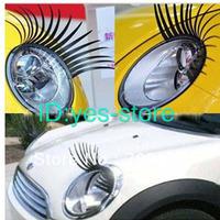 Car Front Light  3D Eyelashes Stickers Automotive Vehicle EYE Lashes Cute Unique  Paster  2pcs/pair