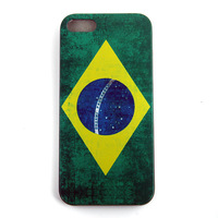 Case For iPhone 4 4s Free Shipping 1pcs/lot Vintage Retro Brasil BR  USA UK  National Flag Hard  Cover