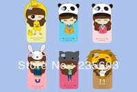Korea style Cute Cartoon Silicon Case 3D Cute Little Bush Girls Soft Cover case For iPhone 5 5S 5C Free shipping 1pcs/lot