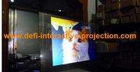 Low price of adhesive white color rear projection screen(1.524m*3m ) add one A4 size transparent film