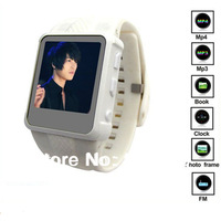 Freeshipping Free Shipping Fashion MP3 Watch Support WAV/MP3//Recording/JPEG/BMP/GIF/E-book AD668 3pcs/lot