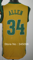 Cheap Sale,#34 Ray Allen Men's basketball team jersey, accept mix order,Free Shipping,