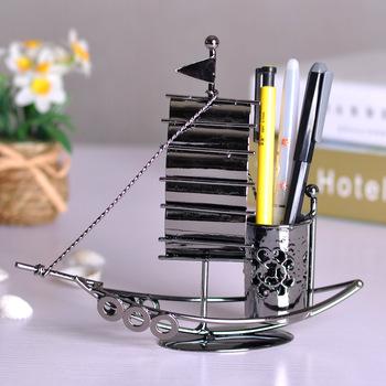 Plain sailing boat pen holder home decoration modern tv cabinet desk ornament