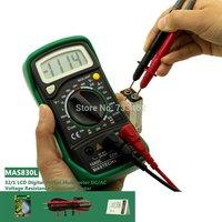 MASTECH MAS830L 3 2/1 LCD Digital Multimeter DC/AC Voltage Resistance Transistor Tester Detector with Diode
