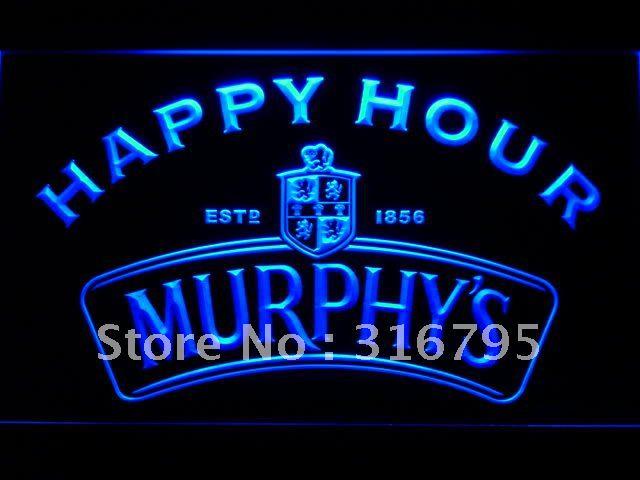 638-b Мерфи Счастливый Час Beer Bar Неоновый Свет Войти Оптовые Dropshipping На/Выключения 7 цветов DHL
