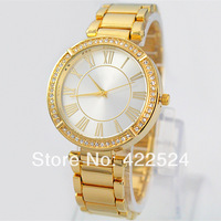 Gift Box+ 1pc Sample Order Best Quality Quartz diamond Wristband Watch square face lady women watches