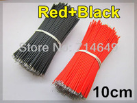 500pcs Red+500pcs Black, 1000pcs/lot,  10cm red black Electronic cable wire for led strip DIY connect, free shipping