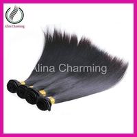"Liweike Virgin Brazilian Straight hair extension Queen hair producs 2pcs/lot , 95g-105g/pcs (8""-30"") natural color free shipping"