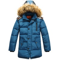 Children's clothing down coat children's outerwear new 2013 winter jacket for boy baby duck down long Parkas kids winter coat