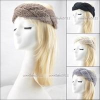 10pcs/LOT GIRLS WOMEN Headband Beanie Ear Warmer Knitted headwrap turban bow