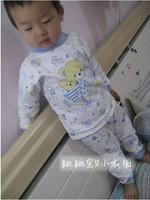 Child baby sleepwear suits,toddler cartoon pajama Retail Childrens cotton long sleeve pajamas sets Children's Christmas Set 103